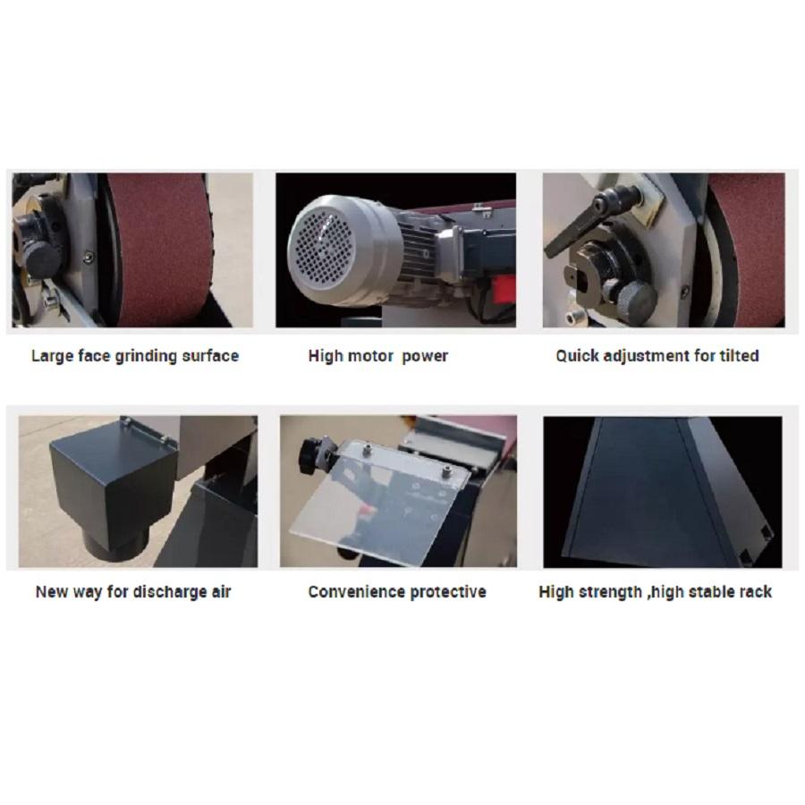 Semco belt grinder features